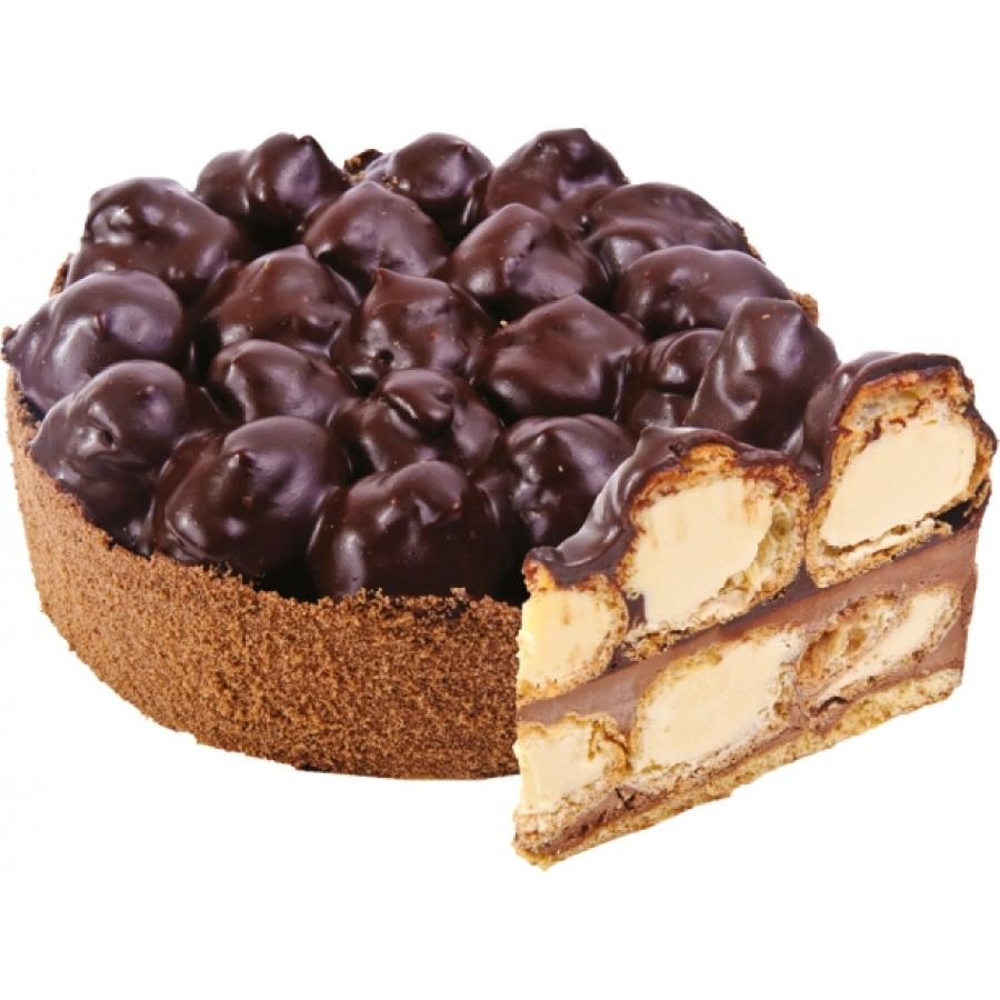 Как сделать торт из профитролей
