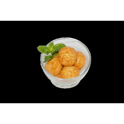 кокосовые творожные пончики