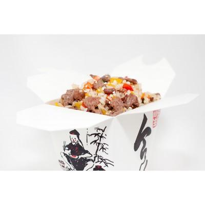 Рис с телячьей вырезкой в соусе Терияки