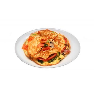 Омлет помидор-брокколи